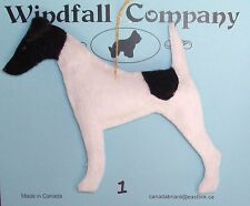 Smooth Fox Terrier Dog Velour Velvet Christmas Canine Ornament #1 by WC