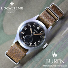 1940's BUREN [Swiss] Dirty Dozen WWW MOD WW2 Vintage Military Watch 15j Cal. 462