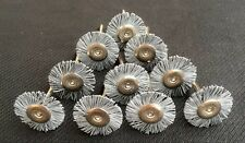 10PCS 320 Grit Nylon Flat Brush Polishing Wheel With Emery Sand Fit Dremel