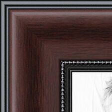 ArtToFrames 16x16 inch Mahogany and Burgundy With Beaded Lip Picture Frame, NEW!