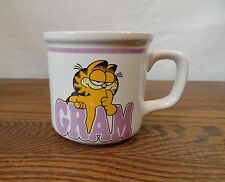 VTG Garfield Cat Comic Gram Mug Coffee Cup Purple Jim Davis Grandmother Enesco