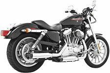 Freedom Performance - HD00317 - 3 1/4in. Racing Slip-On, Chrome with Black Tip~