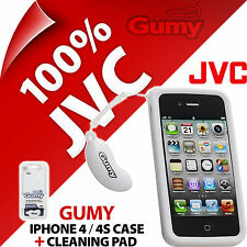 New JVC Gumy Case For Iphone 4 4S Cover Skin Colour Matches Headphones/Earphones