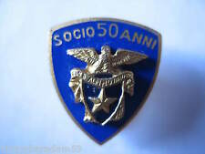 DISTINTIVI CLUB ALPINO ITALIANO SOCIO 50 ANNI 1950 ORIGINAL MOUNTAIN BADGE