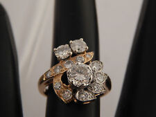 Art Deco Diamond Ring Antique 14k Yellow Gold J/VS1 1.48 tcw Cluster Spectacular