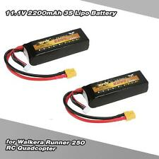 2PCS 11.1V 2200MAH 3S LIPO BATTERY FOR WALKERA RUNNER 250 RC QUADCOPTER US K4I1