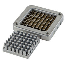 "Choice 3/8"" Stainless Steel Blade Assembly and Push Block for French Fry Cutters"