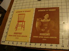 2 1960's ANTIQUING IN VERMONT Directories 1964, 1965 A few pags each light wear