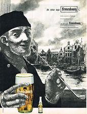 PUBLICITE ADVERTISING 044   1962   KRONENBOURG bière HOLLANDE
