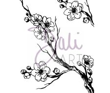 DaliART A6 Clear Stamps CHERRY BLOSSOM Stamps DLCSA6026