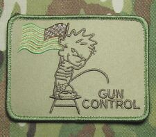PISS ON GUN CONTROL USA SECOND 2ND AMENDMENT 3% NRA MULTICAM VELCRO MORALE PATCH