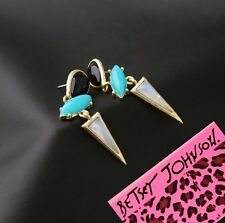 NEW Betsey Johnson Women Crystal Gem Gold Plated Cocktail Earring XMAS ED01329