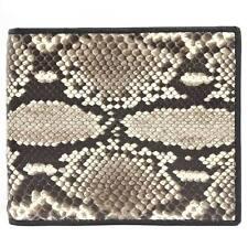 Genuine Python SnakeSkin Exotic Leather Men's Bifold Wallet Natural PKK USPT034
