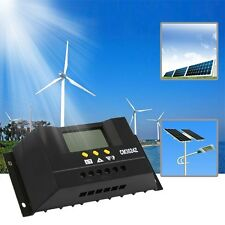 New Solar Regulator 30A 12/24V Solar Charge Controller PWM LCD Display SL