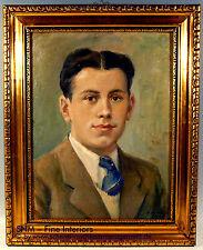 Gemälde RUSSISCHER KÜNSTLER Herren Männer Portrait 1941 Ölbild ру́сский