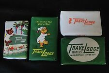 Lot of Four Travel Lodge Motels Vintage Mini Hotel Soap Bars Dial Ivory Brands