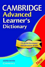 Cambridge Advanced Learner's Dictionary Hardback with CD ROM, , Very Good condit