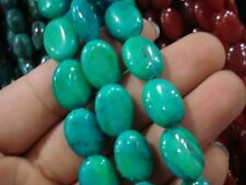 "10x14mm Blue Turkey Turquoise Gem Oval Loose Beads 15"" DY"