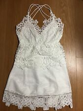 unbranded Self Style trimmed peplum Lace White dress Lady Dress Portrait Uk 8 S
