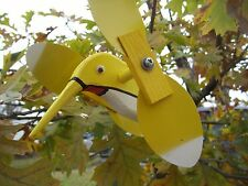 Yellow Hummingbird Mini Whirligigs Whirligig Windmill Yard Art Hand made