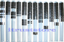 "1/4"" 3/8"" 1/2"" SOCKET CLIP ORGANIZER HOLDER RACK RAIL 12 PIECE"