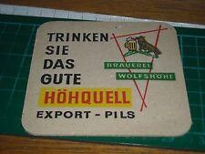 sottobicchiere beer mats birra bierdeckel hohquell export pils