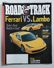ROAD & TRACK CAR MAGAZINE 2010 DECEMBER FERRARI ITALIA 458 LAMBORGINI GALLARDO
