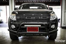 FRONT BLACK GRILLE GRILL FORD RANGER RAPTOR T6 2011-2015 Led AMBER Bar Lit 3