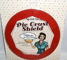 "ADJUSTABLE SILICONE PIE CRUST SHIELD    Adjusts to fit 8"",9"" and 10"" pies"