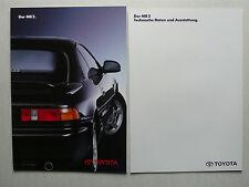 Prospekt Toyota MR 2, 4.1991, 14 Seiten + technische Daten/Ausstattung