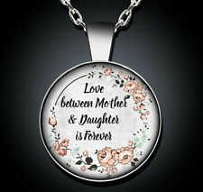 Mother Daughter Necklace MOM Silver Pendant New Jewelry Mothers Day Gift