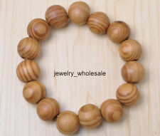 Wholesale 16MM Diameter Natural color Wood round Beads Bracelet bead Bangle