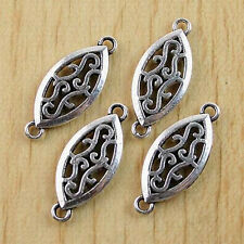25pcs Tibetan Silver  Oval Connectors Findings H0522
