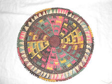 Hand crafted colorful Tribal woven bowl, plate