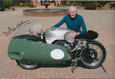 Sammy Miller HAND SIGNED TT & Bike Racing Legend 12x8 Photo AFTAL Autograph COA