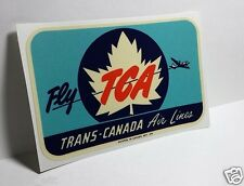TRANS-CANADA AIRLINES TCA Vintage Style Decal / Vinyl Sticker, Luggage Label