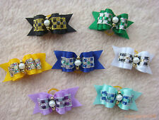 20 dog cat puppy hair bow wholesale lots of  headdress flower pets gift #a8