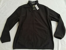 new $55 Weatherproof F43750ROS Black Active Fleece Zip-Up Jacket Men's L Sweater