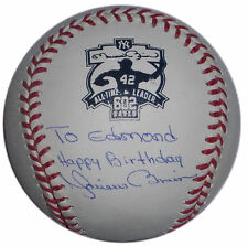 MARIANO RIVERA SIGNED ALL TIME SAVES LEADER 602 LOGO HAPPY BIRTHDAY BALL YANKEES