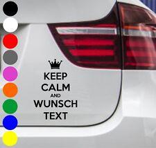 WD Autoaufkleber KEEP CALM AND WUNSCHTEXT Aufkleber Sticker DUB JDM OEM 15x10cm