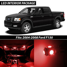 2004-2008 Ford F150 Red Interior LED Lights Package Kit