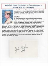 Medal of Honor Recipient ~ WWII ~ World War 2 ~ John Meager ~ Okinawa ~ 1945