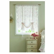 SIMPLY SHABBY CHIC CURTAIN BALLOON SHADE ROSE RUFFLE  New