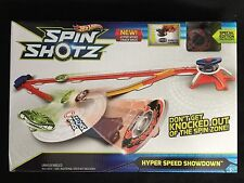 Hot Wheels Spin Shotz Hyper Speed Showdown Set New Sealed  Box
