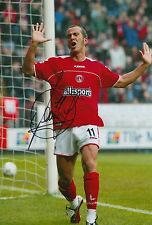 CHARLTON ATHLETIC HAND SIGNED PAOLO DI CANIO 12X8 PHOTO.