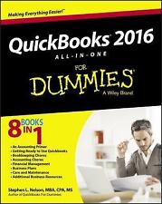 Quickbooks 2016 All-in-One for Dummies® by Stephen L. Nelson (2015, Paperback)