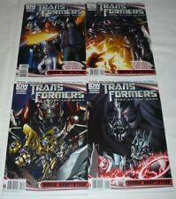 TRANSFORMERS DARK OF THE MOON MOVIE ADAPTATION #1-4 NM COMPLETE SET 2011 IDW