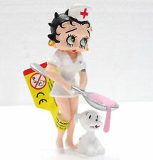 PLASTOY 61908-BETTY BOOP INFERMIERA-CROCEROSSINA C/CAGNOLINO-misura cm. 8