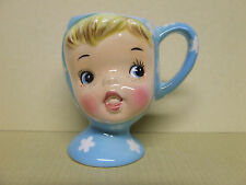 Vintage Napco Miss Cutie Pie Egg Cup, Blue (#A3513/BL, Japan)