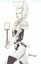Storm as Thor Commission - 2011 Signed art by Koi Turnbull